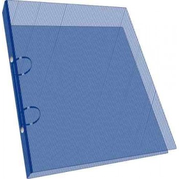 Carpeta con 2 aros plástico transparente 40mm A4
